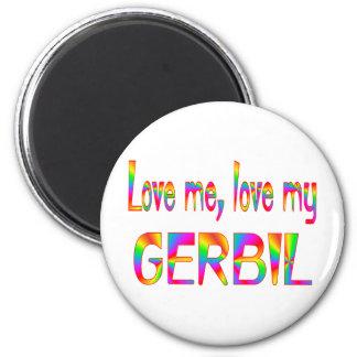 Gerbil Love 2 Inch Round Magnet