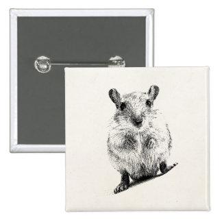 Gerbils animales del mascota del ejemplo del bebé pin cuadrada 5 cm