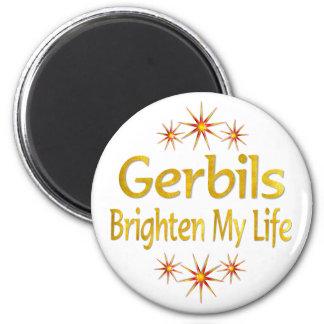 Gerbils Brighten My Life 2 Inch Round Magnet