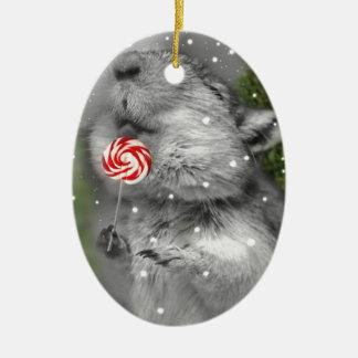 Gerbil's Christmas Dream Ceramic Ornament