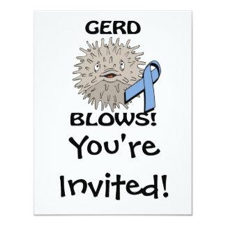GERD Blows Awareness Design Custom Announcements