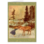 Gerda and the Reindeer Card