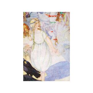 Gerda y el ejemplo de Hans Andersen de los cuervos Impresion En Lona