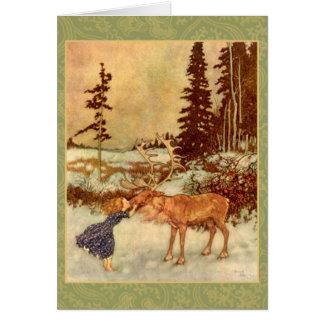 Gerda y la tarjeta del reno