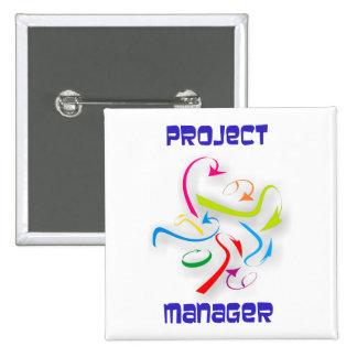 Gerente de proyecto project manager pin cuadrado