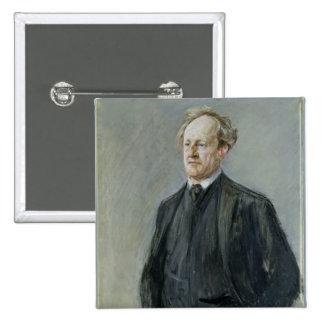 Gerhart Hauptmann, 1912 Pin Cuadrado