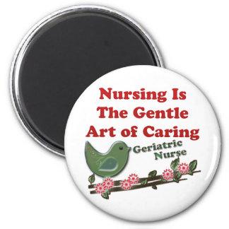 Geriatric Nurse 2 Inch Round Magnet