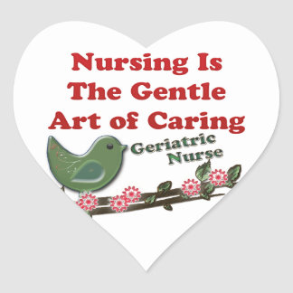 Geriatric Nurse Heart Sticker