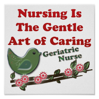Geriatric Nurse Print