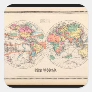 Geriatric World Map 20_Maps of Antiquity Square Sticker
