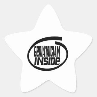 Geriatrician dentro calcomanía forma de estrella