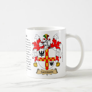 Germain, the Origin, the Meaning and the Crest Coffee Mug
