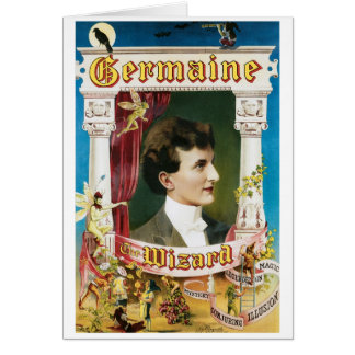 Germaine The Wizard ~ Magician Vintage Magic Act Card