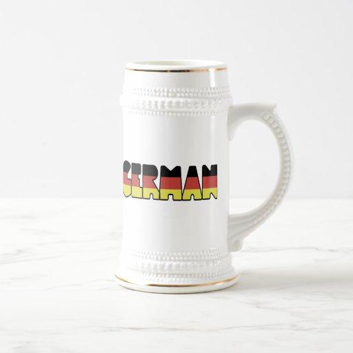 GERMAN 18 OZ BEER STEIN