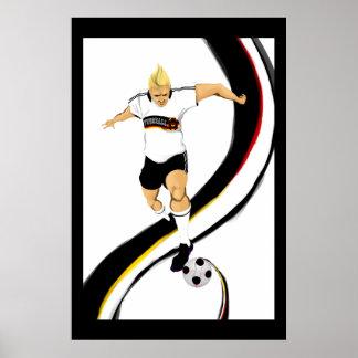 German 2014 Fussball lovers Fußball poster print
