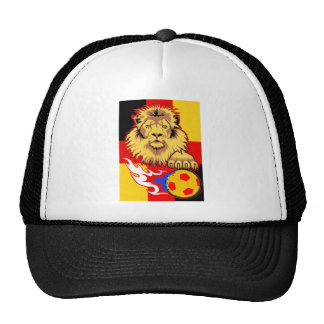 German African Soccer Lion Trucker Hat