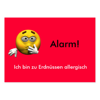 German Allergy Info card - Peanut