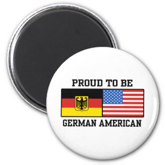 German American 2 Inch Round Magnet