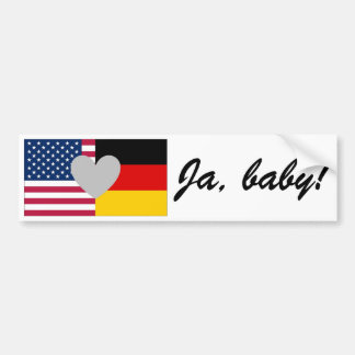 German American bumper sticker