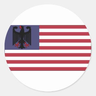 German American Classic Round Sticker