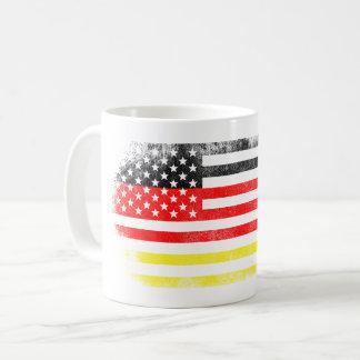 German American Flag   Germany and USA Design Coffee Mug