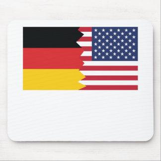 German American Flag Mouse Pad