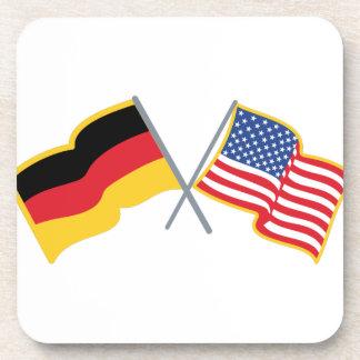 German American Flags Beverage Coaster