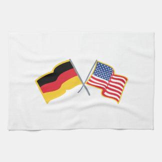 German American Flags Kitchen Towels