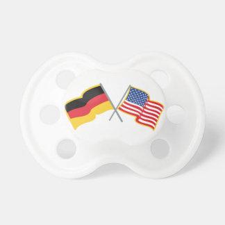 German American Flags Pacifier