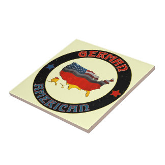 German American Flags Tile