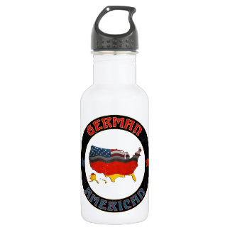 German American Flags Water Bottle