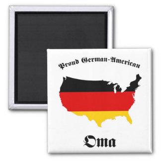 German American Oma - Granny - Grandmother Fridge Magnet