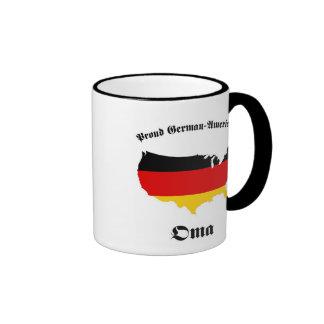 German American Oma - Granny - Grandmother Ringer Coffee Mug