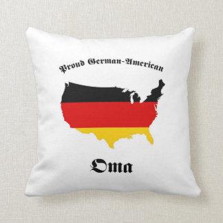 German American Oma - Granny - Grandmother Throw Pillow