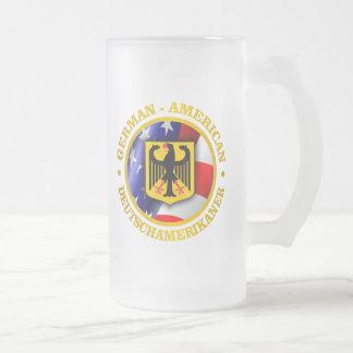 German-American Pride 16 Oz Frosted Glass Beer Mug