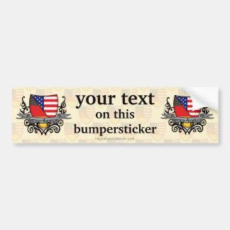German-American Shield Flag Bumper Sticker