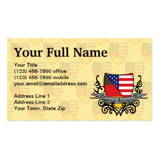 German-American Shield Flag Double-Sided Standard Business Cards (Pack Of 100)