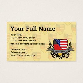 German-American Shield Flag Business Card