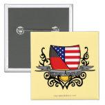 German-American Shield Flag Button