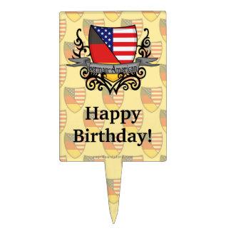 German-American Shield Flag Cake Topper