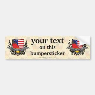 German-American Shield Flag Car Bumper Sticker
