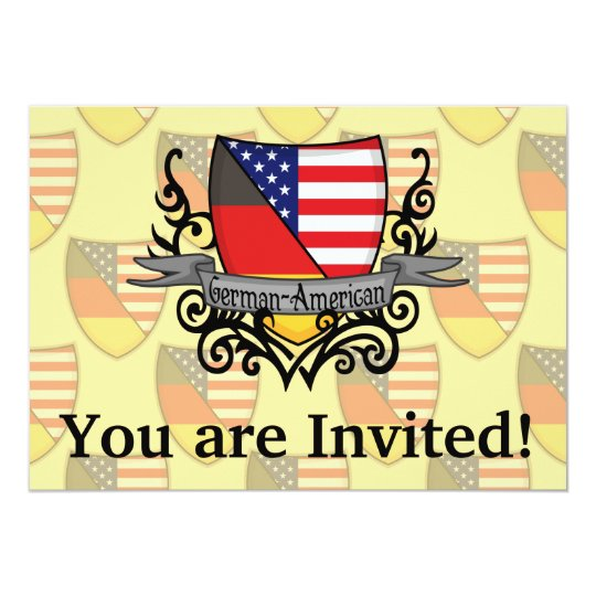 German-American Shield Flag Card