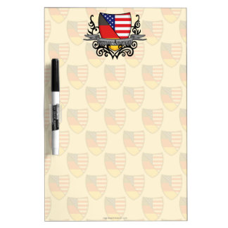German-American Shield Flag Dry-Erase Board
