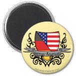 German-American Shield Flag Refrigerator Magnet