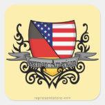 German-American Shield Flag Square Sticker