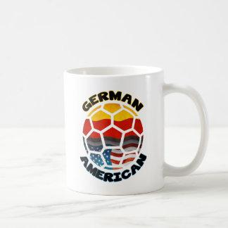 German American Soccer Ball Classic White Coffee Mug