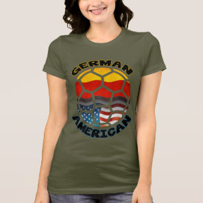 German American Soccer Fan T-Shirt