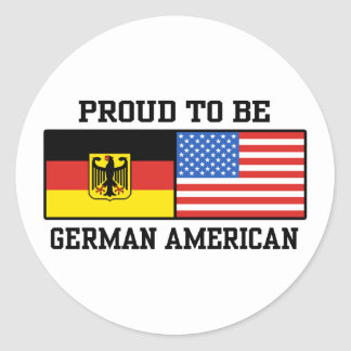 German American Round Stickers