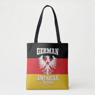 German American Vintage Eagle and Flag Tote Bag