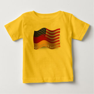 German-American Waving Flag Baby T-Shirt